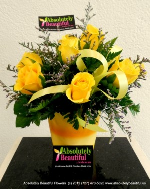 Golden Rays of Spring Stunning Yellow Roses in Saint Petersburg, FL | ABSOLUTELY BEAUTIFUL FLOWERS