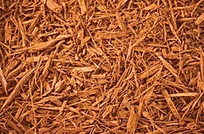 Golden Rod (Gold) Shredded Mulch Priced at a yard.  Choose to pick up in store.