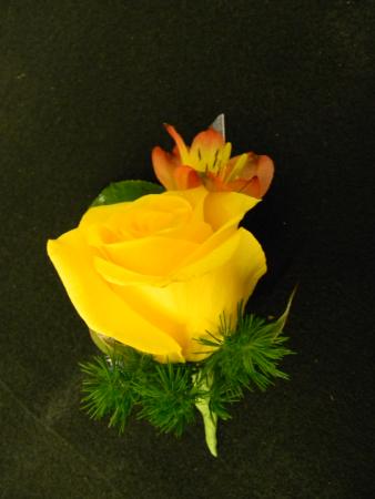 Golden Rose Boutonniere