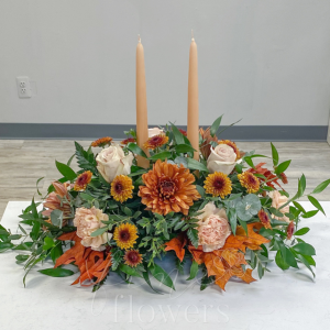 Golden Spice Centerpiece in Middletown, NJ | Fine Flowers