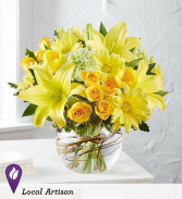 Golden Spring Lilies, Tulips, Spray Roses and More
