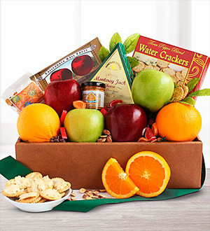 Golden State Deluxe Fruit and Cheese Box .WGB525-N