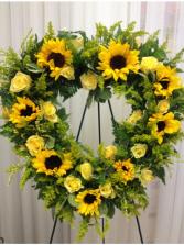 Golden Sun Wreath