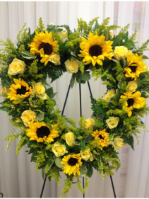 Golden Sun Wreath