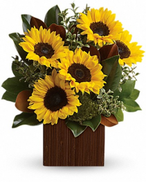 Golden Sunflower Bouquet Mother's day
