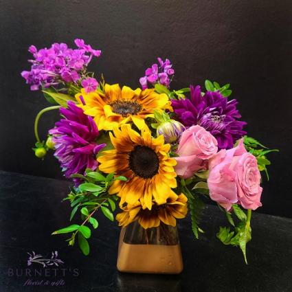 Golden Sunset Vase Arrangement
