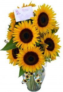 Golden Sunshine Vase Arrangement