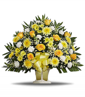 Golden Thoughts Arrangement in Riverside, CA | RIVERSIDE BOUQUET FLORIST