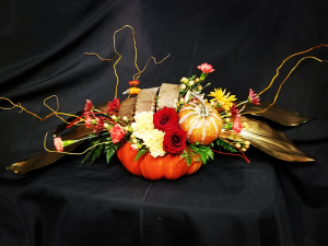 Golden Willow Thanksgiving  Center Piece in Mountain Home, AR | BOUQUET PALACE
