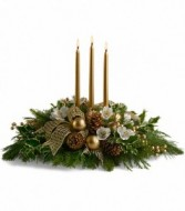 Golden Winter Wonder Centerpiece