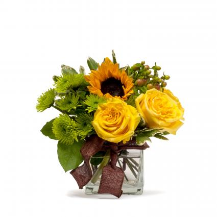 Golden Woodland Floral Arrangement