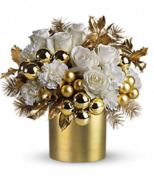 Golden XMAS GLAM For more products like this, go to our Christmas page. in Whittier, CA | Rosemantico Flowers