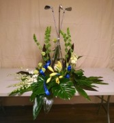 Golf Urn Arrangement - AWF4D Clubs need to be provided