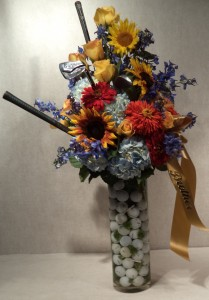 Golfer's  Dream Custom Arrangement in Port Huron, MI | CHRISTOPHER'S FLOWERS