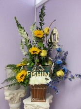 Gone Fishing  Funeral Basket