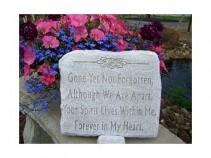 "Gone Yet Not Forgotten 12"" x 10.5"" Memorial Stone"