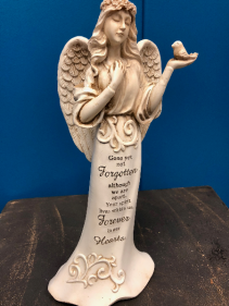 Gone yet not forgotten angel figurine Memoriam