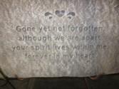 Gone yet not forgotten  Memorial Plaque on stand