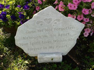 """""""Gone Yet Not Forgotten"""" Memory Stone"""