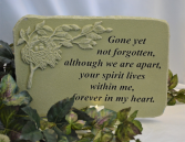GONE YET NOT FORGOTTEN - STONE SYMPATHY CANDLE STONE - Green
