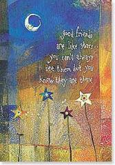Good Friends are Like Stars Card