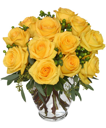 Good Morning Sunshine Roses Arrangement