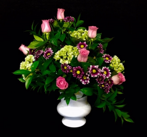 Goodbye My Sweet Friend Pink Rose with Purple Mix in Plainview, TX | Kan Del's Floral, Candles & Gifts