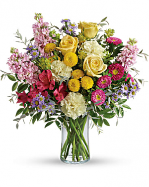 Goodness and Light Vase arrangement in Bethel, CT | BETHEL FLOWER MARKET OF STONY HILL