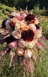 Gorgeous Garden Bouquet Cascading Brides Bouquet