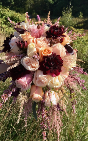 Gorgeous Garden Bouquet Cascading Brides Bouquet