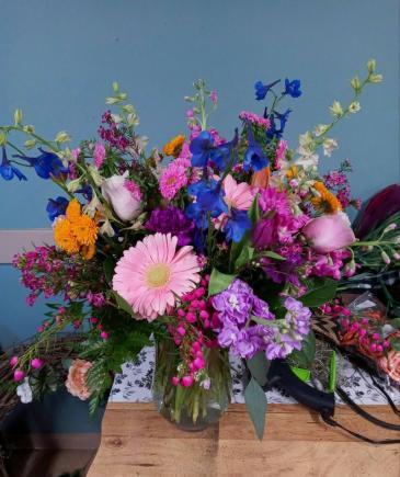 Gorgeous Garden Tall Vase Arrangement