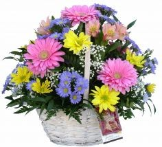 GORGEOUS GERBER Basket Arrangement