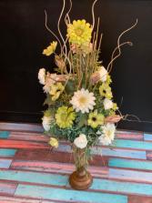 Gorgeous Gerberas & Anemone  Silk forever flower arrangement