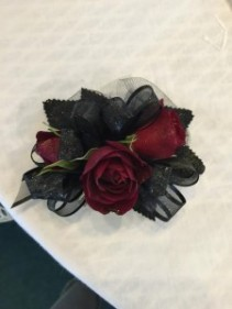 Gothic Red Corsage or Wristlet