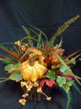 Gourds-A-Plenty Silk Floral Arrangement