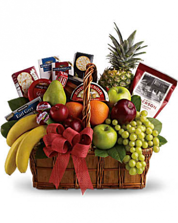 Gourmet And Fruit Basket Gift Basket