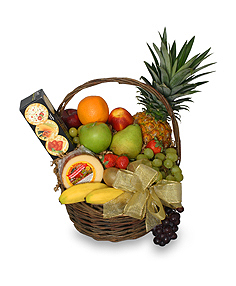 GOURMET AND FRUIT GIFT BASKET