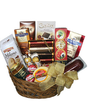 GOURMET BASKET Gift Basket in Houston, TX | EXOTICA THE SIGNATURE OF FLOWERS