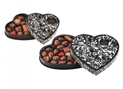 Gourmet Chocolate- Black Swirl Valentine's Day