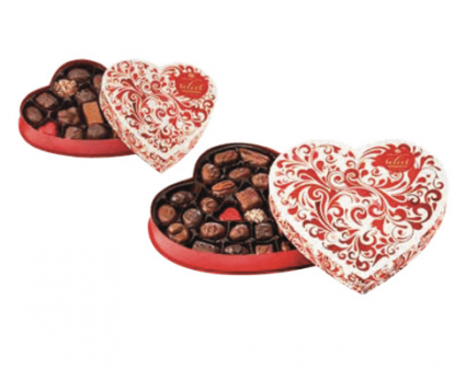 Gourmet Chocolate- Red Swirl Valentine's Day