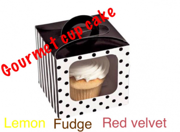 Gourmet cup cake in a box Gourmet cup cale