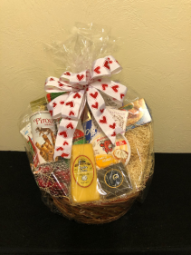 Gourmet Gourmand Food Basket with Bow