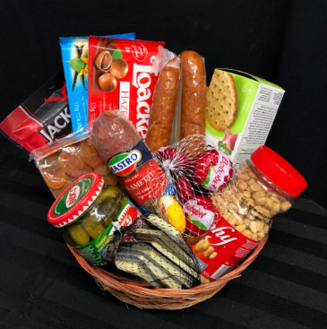 Gourmet Meat and Cheese Basket Gift Basket