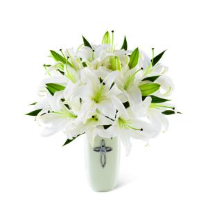 Grace Abounds Sympathy Flower Arrangement in Saskatoon, SK | QUINN & KIM'S FLOWERS