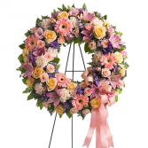 Grace and Love Standing Wreath