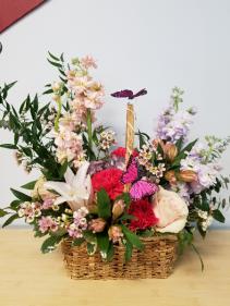 Graceful Butterflies Basket Desing