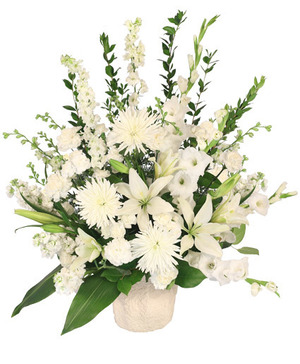 Graceful Devotion Funeral Flowers in Glens Falls, NY | ADIRONDACK FLOWER