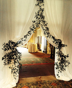 Graceful Greenery Curtain Accents in Waterbury, CT | GRAHAM'S FLORIST