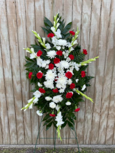 GRACEFUL RED & WHITE Standing  Spray