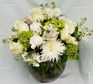 Graceful Sorrow Fresh Centerpiece (Local Deliverly Only) in Fulton, NY | DeVine Designs By Gail